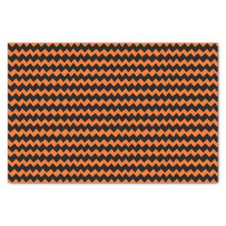 Papier Mousseline Rayures oranges et noires de Chevron