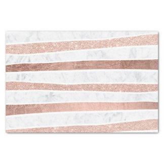 Papier Mousseline Rayures roses de marbre d'aluminium de