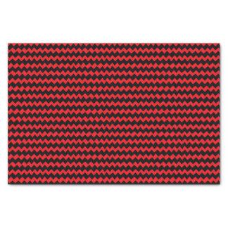 Papier Mousseline Rayures rouges et noires de Chevron