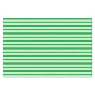 Papier Mousseline Rayures vertes épaisses et minces