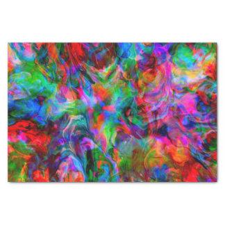 Papier Mousseline Remous lumineux psychédélique intense de couleur