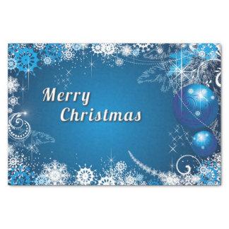 Papier Mousseline Remous lunatiques de flocon de neige de Noël