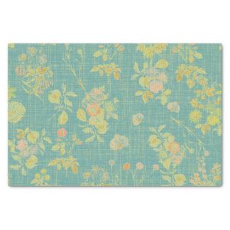 Papier Mousseline Ressort vintage floral
