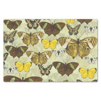 Papier Mousseline Rétro motif de papillons vintage