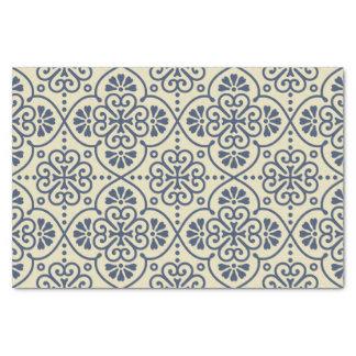 Papier Mousseline Rétro motif ornemental floral géométrique