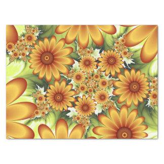 Papier Mousseline Rêve floral, art abstrait moderne de fractale de