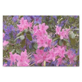 Papier Mousseline Rhododendrons de ressort floraux