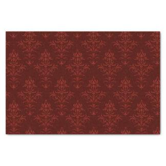 Papier Mousseline Rococos en rouge