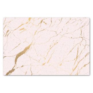 Papier Mousseline Rose et concepteur de marbre d'or
