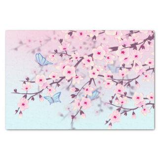 Papier Mousseline Rose floral de fleurs de cerisier