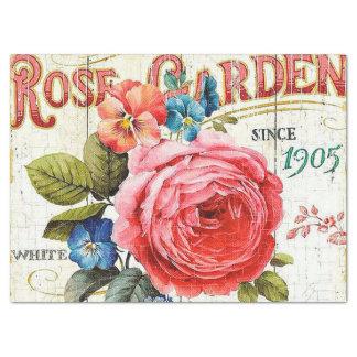 Papier Mousseline Rose vintage de rose tout tissu de partie de but