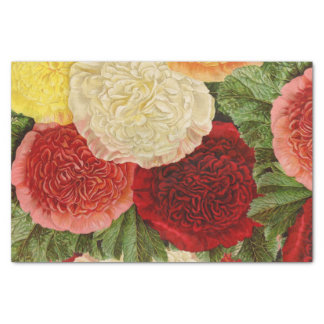 Papier Mousseline Roses jaunes roses blancs rouges vintages antiques