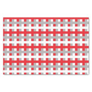 Papier Mousseline Rouge abstrait, argent et blanc