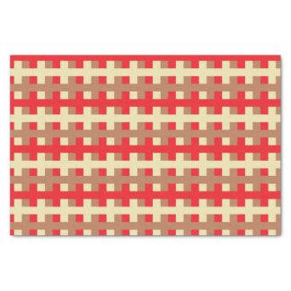 Papier Mousseline Rouge abstrait, beige et Brown