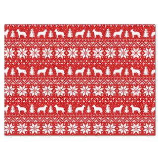 Papier Mousseline Rouge australien de motif de Noël de chiens de