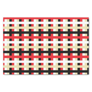 Papier Mousseline Rouge, blanc abstraits, beige et noir