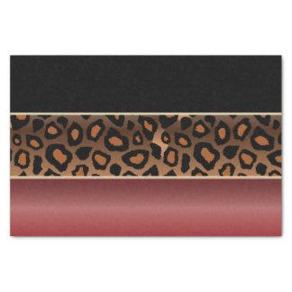 Papier Mousseline Rouge de grenat, noir et copie de Jaguar
