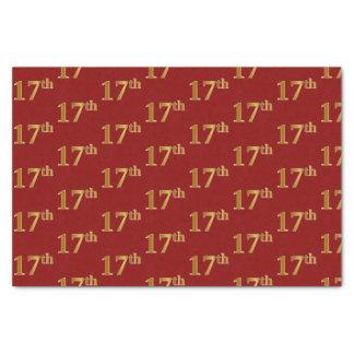 Papier Mousseline Rouge, événement d'or de Faux 17ème (dix-septième)
