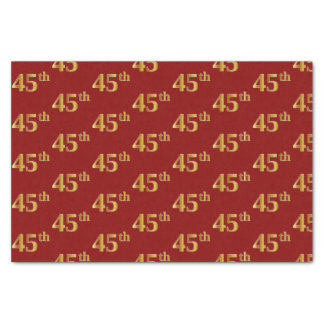 Papier Mousseline Rouge, événement d'or quarante-cinquième de Faux