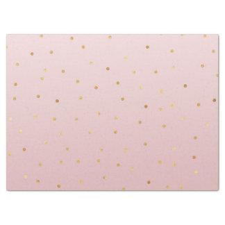 Papier Mousseline Rougissent l'étincelle de confettis d'or de rose