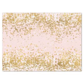 Papier Mousseline Rougissent l'étincelle rose de confettis d'or