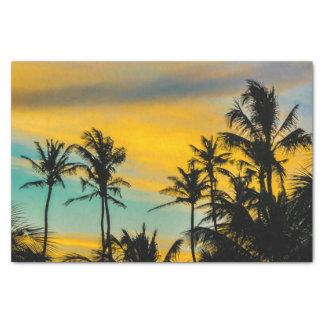 Papier Mousseline Scène tropicale au temps de coucher du soleil