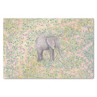 Papier Mousseline Scintillement d'or de fleurs d'éléphant