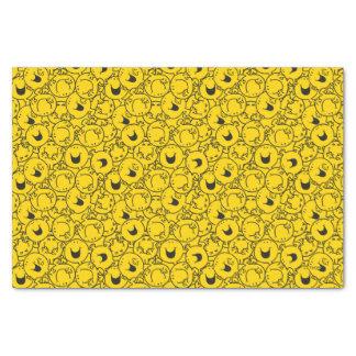 Papier Mousseline Série de M. Happy | de motif de sourires de jaune