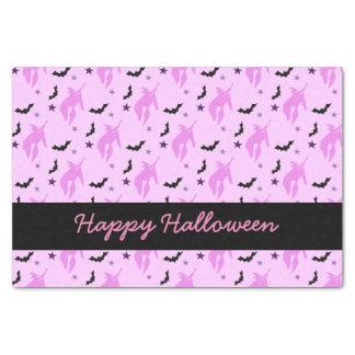 Papier Mousseline Sorcière et chauves-souris roses Halloween Girly
