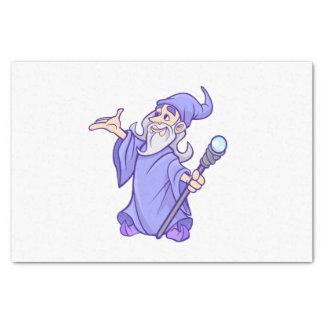 Papier Mousseline Sorcière pourpre magique de magicien de magicien
