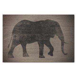 Papier Mousseline Style rustique de silhouette d'éléphant africain