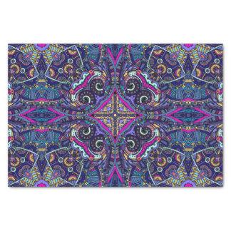 Papier Mousseline Tendance bleue de natif américain de kaléidoscope