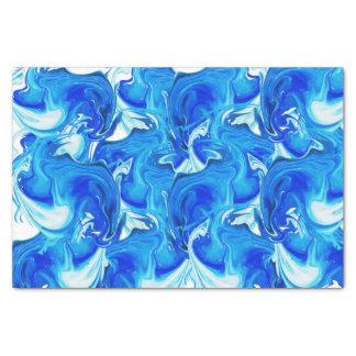 Papier Mousseline Texture marbrée par bleu, technique riche d'ebru