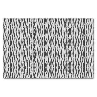 Papier Mousseline Tigre blanc