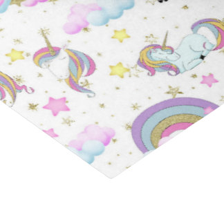 Papier Mousseline Tissu de partie de filles de motif de licorne