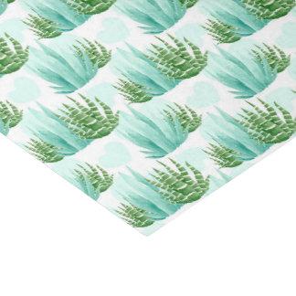 Papier Mousseline Tissu de partie de motif de cactus d'aquarelle