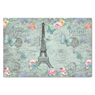 Papier Mousseline Tour-Fleur-Floral-Cru-Roses de Paris-Eiffel