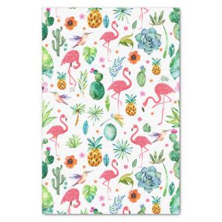 Papier Mousseline Toutes les choses tropicales et motif rose de