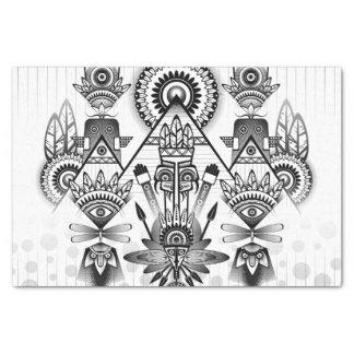 Papier Mousseline Tribal indien indigène antique abstrait