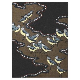 Papier Mousseline Troupeau de Blue Jays