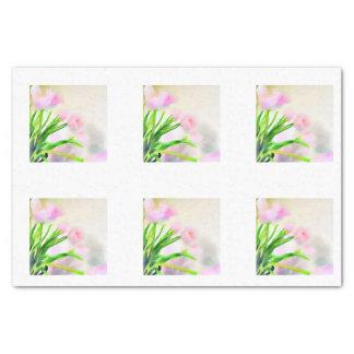 Papier Mousseline Tuiles roses de tulipe d'aquarelle pour Decoupage