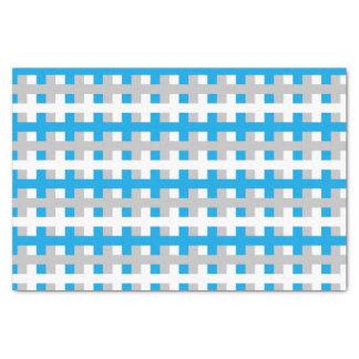 Papier Mousseline Turquoise abstraite, argent et blanc