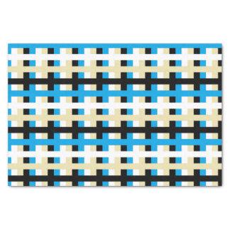 Papier Mousseline Turquoise abstraite, blanc, beige et noir