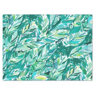 Papier Mousseline Vert de JUNGLE de FEUILLE de BANANE tropical