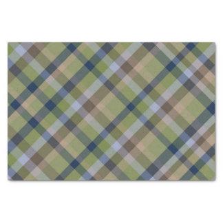 Papier Mousseline Vert de mousse de bleu marine et plaid de Brown