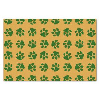 Papier Mousseline Vert d'empreintes de pattes
