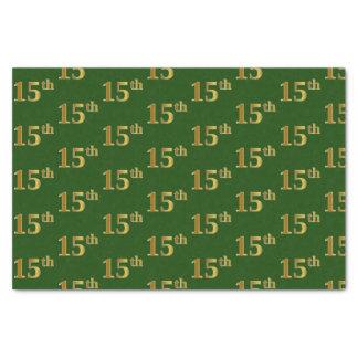 Papier Mousseline Vert, événement d'or de Faux 15ème (quinzième)