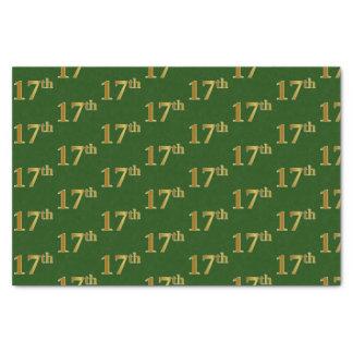 Papier Mousseline Vert, événement d'or de Faux 17ème (dix-septième)