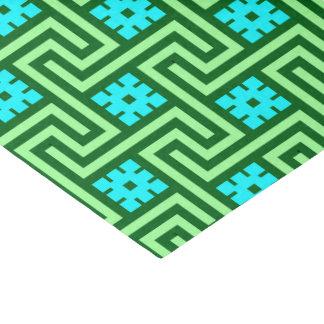Papier Mousseline Vert grec de clé, de turquoise et de jade de Deco