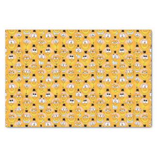 Papier Mousseline Visages jaunes drôles de conception d'Emoji